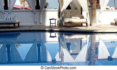 kleiderladen, hotel, luxus, teich, schwimmender