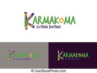 Logo kleidung bunte freigestellt abbildung vektor logo weies kleiderladen kleidung logo karmakoma vektor mode thecheapjerseys Images