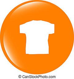 kleidung, für, frauen, oder, man., t-shirt, ikone, freigestellt