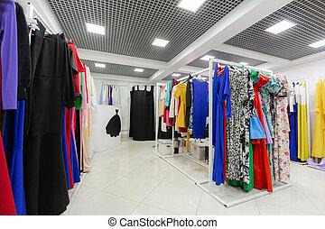 kleidungsgeschäft, kleidet, kleiderbügel, lose