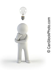 klein, 3d, -, idee, leute