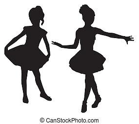 klein, ballerinen