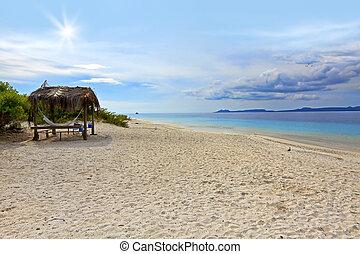 Sandy beach on Klein (little) Bonaire, Caribbean