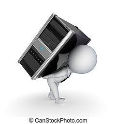 klein, computer., 3d, person