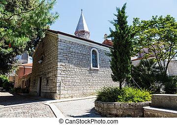 klein, kirche, in, der, cluburlaub, von, opatija, kvarner, kroatien