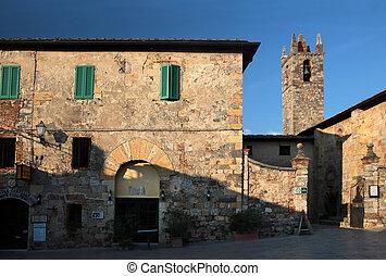 klein, kirche, von, monteriggioni