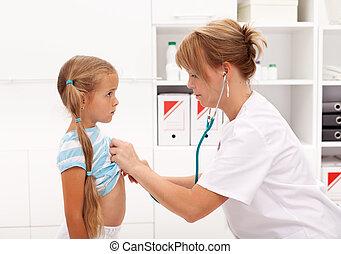 klein meisje, arts