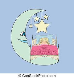 klein meisje, dromen
