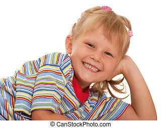 klein meisje, vrolijke
