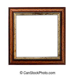 klein, quadrat, bilderrahmen