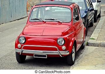 klein, rotes auto