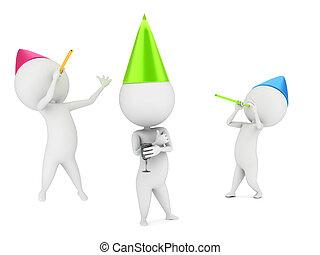klein, typen, feiern