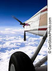klein vliegtuig, vlucht