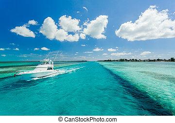 klein, yacht, meer, segeln
