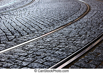kleinbahn, schiene, lissabon, portugal