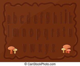 kleine, alfabet