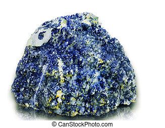 kleine, blauwe , kristallisatie