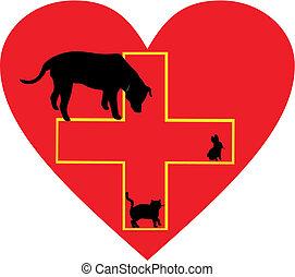 kleine, care, helpen, dier, meldingsbord