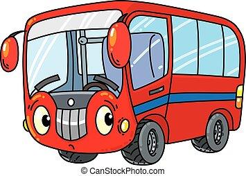 kleine, gekke , bus, eyes.