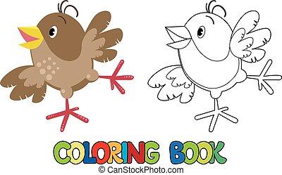 kleine, gekke , kleurend boek, mus