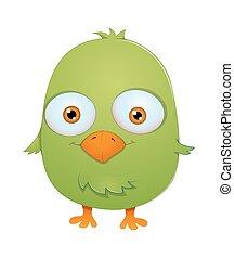 kleine, gekke , vogel