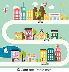 kleine gemeente, landscape, stedelijke