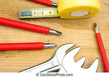 kleine, gereedschap, doe het zelf, onderhoud