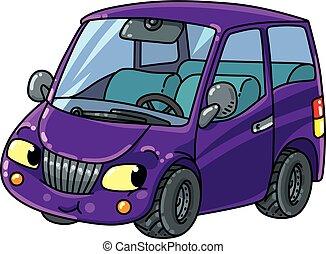 kleine, grappige auto, eyes.