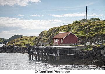 kleine, haven, noorwegen, noordelijk