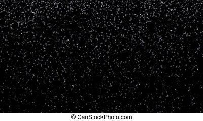 kleine, het vallen, flakes, sneeuw