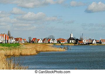 kleine, hollandse, dorp