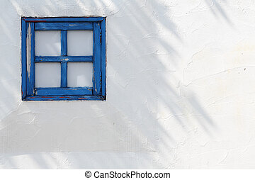 kleine, houten, vensters