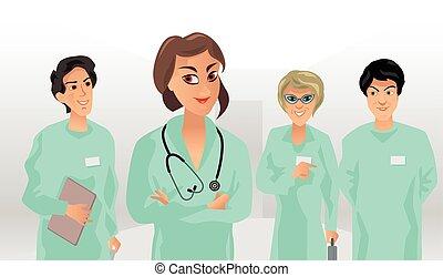 kleine, medisch team