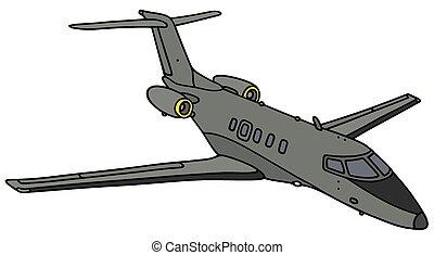 kleine, militair, straalvliegtuig