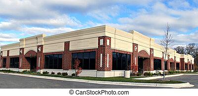 kleine onderneming, gebouw, panorama, aanzicht