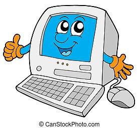 kleine, schattig, computer