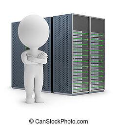 kleine, servers, -, 3d, mensen