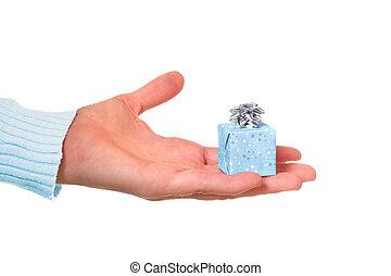 kleine, spullen, goed, komen, pakketten