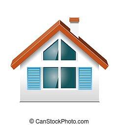 Kleines Haus, Mit, Windows