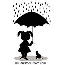Mï½dchen Schirm Hund T Shirt Reizend Stiefeln Gummi Grafik