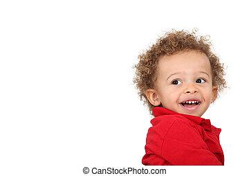 kleinkind, glücklich
