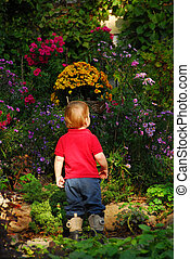 kleinkind, kleingarten