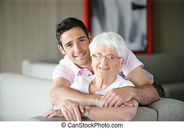 kleinzoon, en, oma