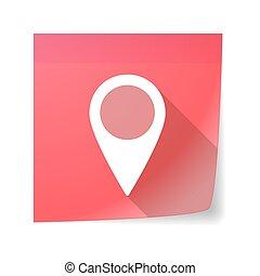 klejowata nuta, ikona, z, niejaki, mapa, marka