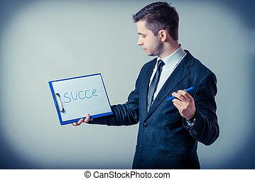 klembord, zakenmens