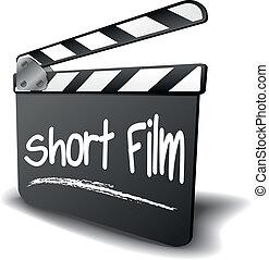 klepel, kort, plank, film