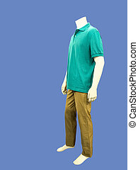 kleren, geklede, mannelijke, paspop, Ongedwongen