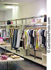 kleren, in, de, winkel