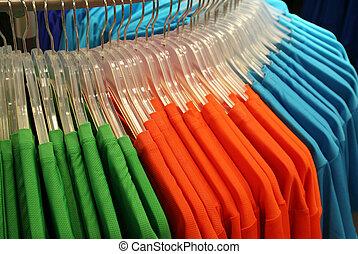kleren, in, een, winkel