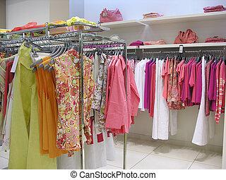 kleren, in, winkel
